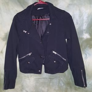 Urban outfiters cotton lined moto jacket /blazer